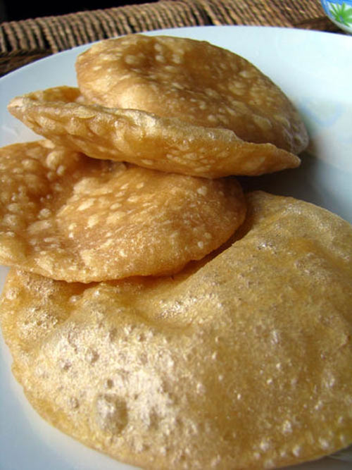 Luchis (deep fried flat bread)