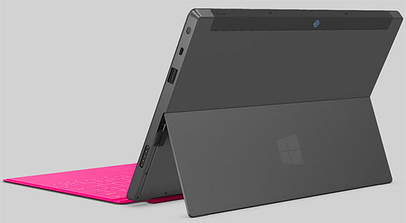 Surface offers a built-in kickstand