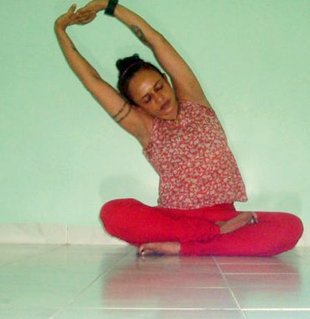 Druta tadasana (Dynamic palm tree pose)