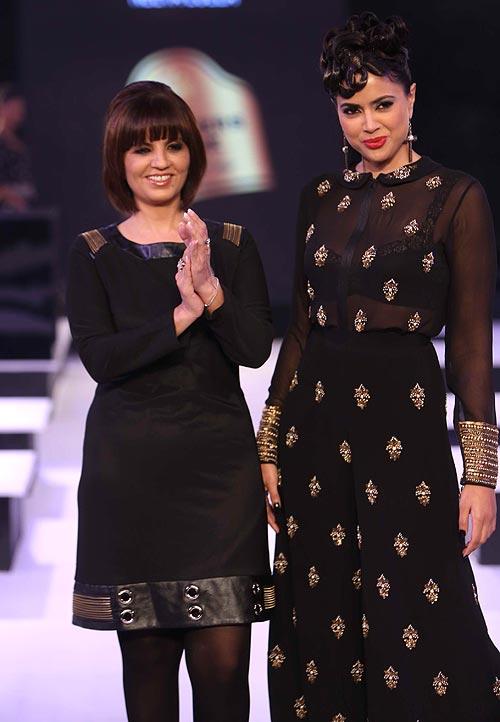 Neeta Lulla and Sameera Reddy