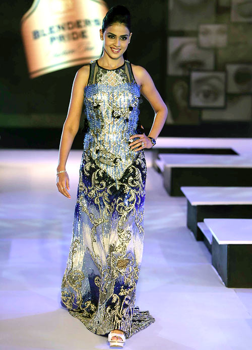 Genelia D'Souza for Falguni and Shane Peacock