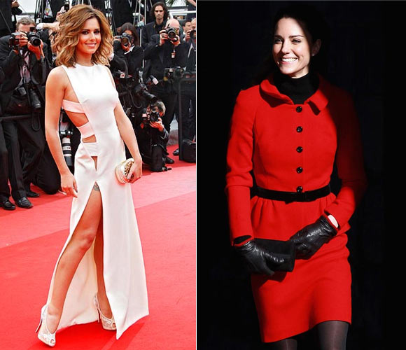 Cheryl Cole and Duchess Kate