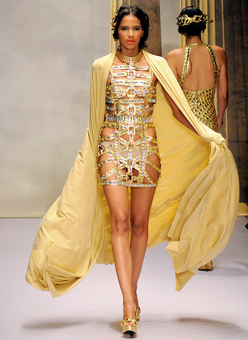 A Giannina Azar creation, showcased at the Dominicana Moda Fashion Week 2012 in Santo Domingo, October 24, 2012