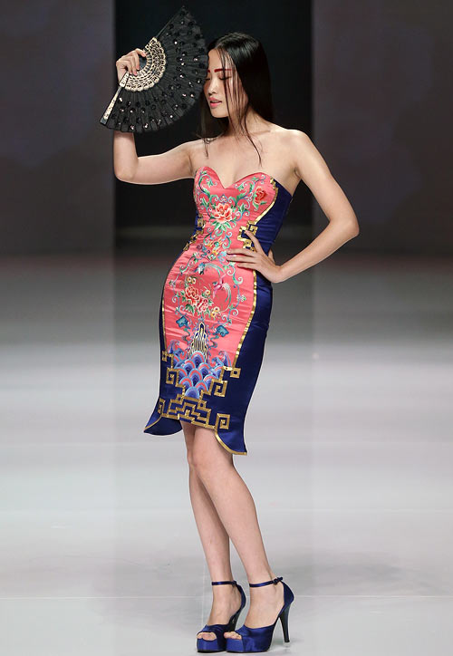 An NE (degrees) TIGER creation, showcased at China Fashion Week (Spring/Summer 2013) on October 25, 2012 in Beijing, China