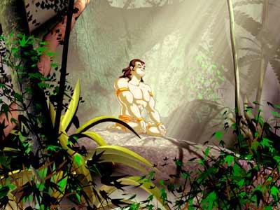 A still from the animation flick Hanuman