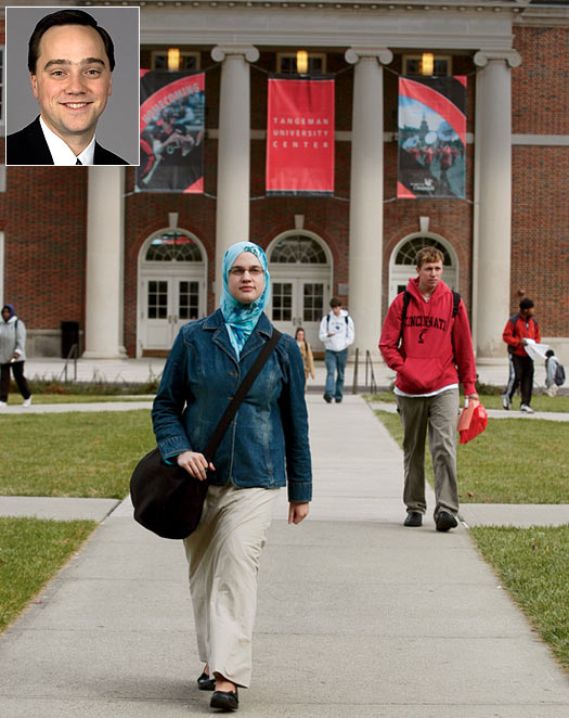 Indian students form the second-largest international population at the University of Cincinnati,  says Dr Jonathan Weller (inset)
