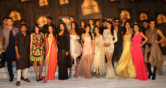 Designers and their muses at the Blenders Pride Fashion Tour 2012 preview