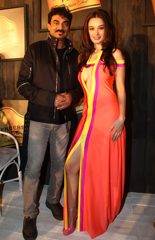 Wendell Rodricks and Evelyn Sharma