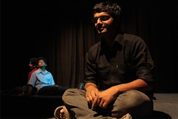 Evam artists staging a show