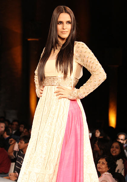 Neha Dhupia for Manish Malhotra