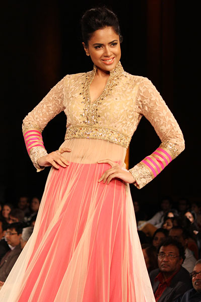 Sameera Reddy for Manish Malhotra