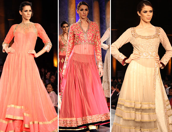 (L-R) Kavita Kharayat, Alesia Raut and Sucheta Sharma for Manish Malhotra