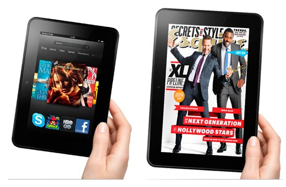 A collahe of Kindle Fire HD 8.9 and Kindle Fire HD 7
