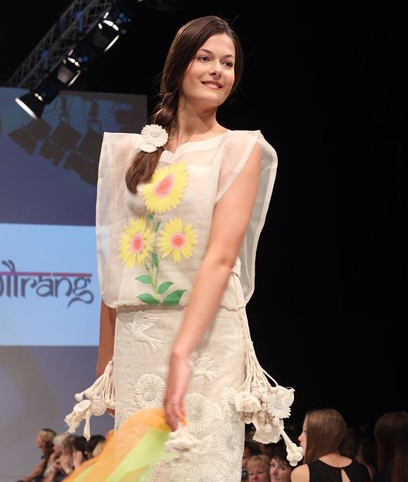 A Gaurang Shah creation at Berlin Fashion Week.
