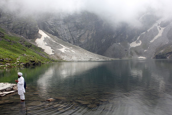The Hemkunt Sahib Lake