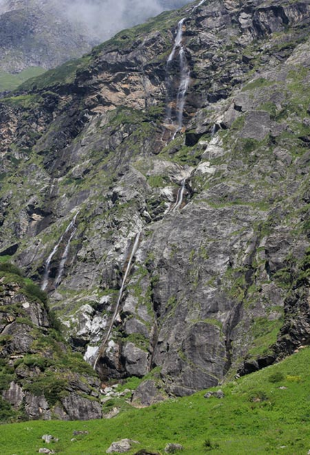 Waterfalls along the route present a mesmerising spectacle.