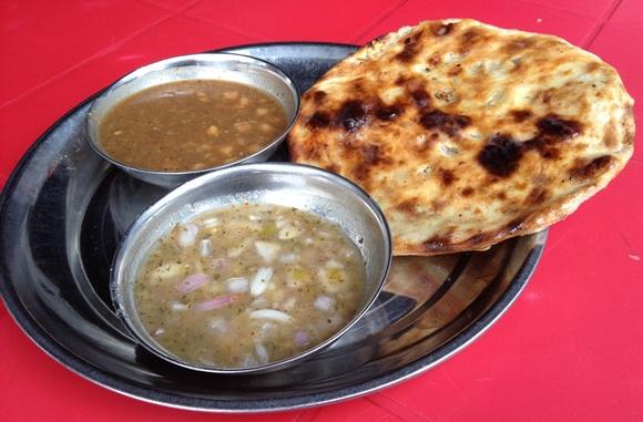 Kulcha-Choley at All India Famous Amritsari Kulcha