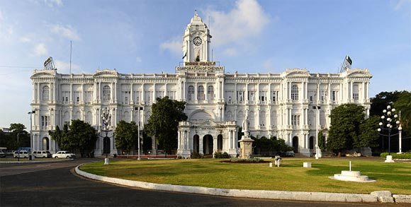 The Ripon Building, commissioned in 1913, houses the Chennai Corporation.