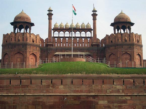 The historic Red Fort in Delhi
