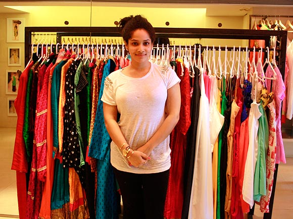 Masaba at her store <I>Masaba</I> at Juhu, Mumbai