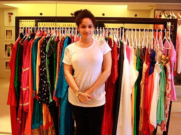 Masaba at her store <I>Masaba</I> at Juhu, Mumbai
