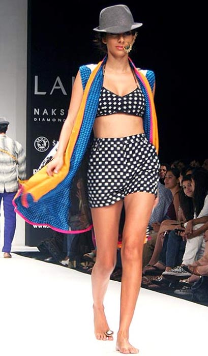 A model in Masaba Gupta creation