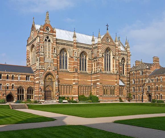 The Keble College Chapel in Oxford, England