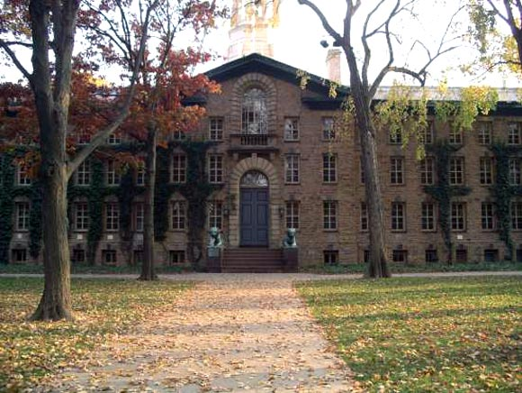 The Nassau Hall at the Princeton University