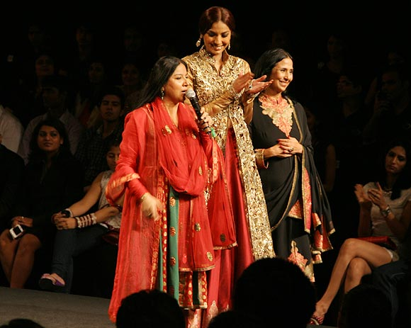 Zila Khan, a model and Leena Singh