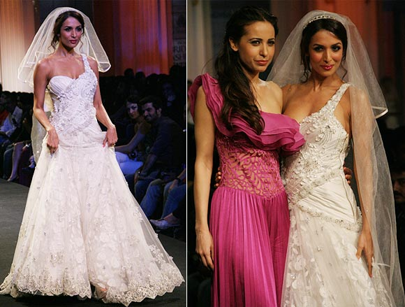 Malaika Arora Khan and (right) with Mandira Wirk