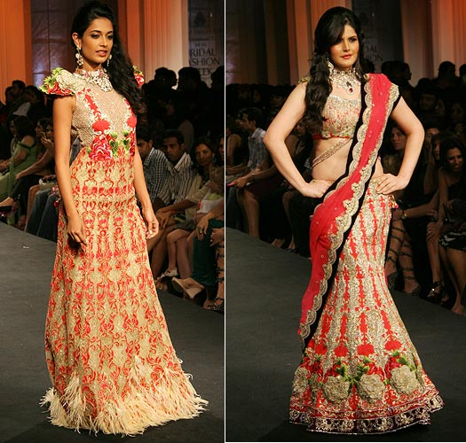 Sarah-Jane Dias and Zarine Khan for Falguni and Shane Peacock