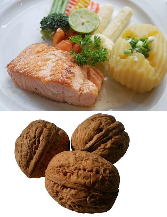 Fish and walnuts