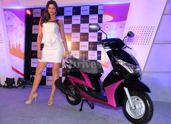 Actor Deepika Padukone at the launch of the Yamaha Ray 2012 in Mumbai back in July