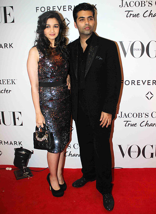 Alia Bhatt and Karan Johar