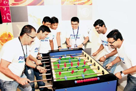 PayPal techies take time off from rigours of product development to play and relax