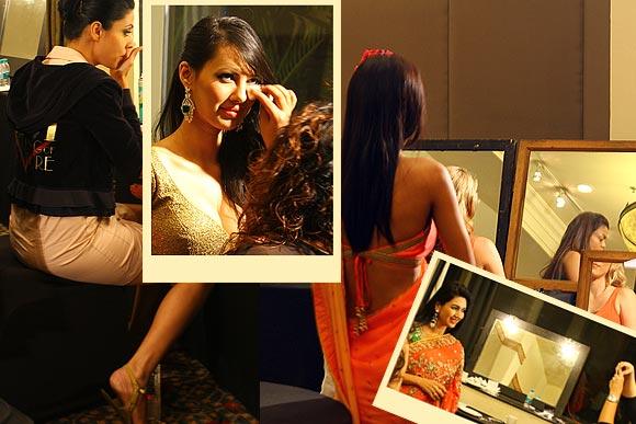 Backstage: When models get a bridal makeover