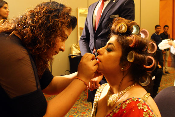 Backstage: When models get a bridal makeover