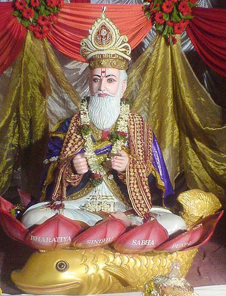 An idol of the Jhulelal is worshipped on this day
