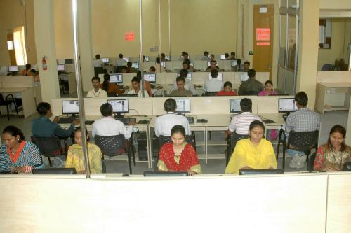 Employees at Rural Shores' Bhiloda centre