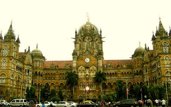 The iconic Chhatrapati Shivaji Terminus that serves as the headquarters of the Central Railways in Mumbai