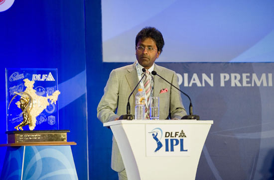 Lalit Modi, chairman and commissioner of Indian Premier League attends the IPL Auction 2010 on January 19, 2010 in Mumbai, India.