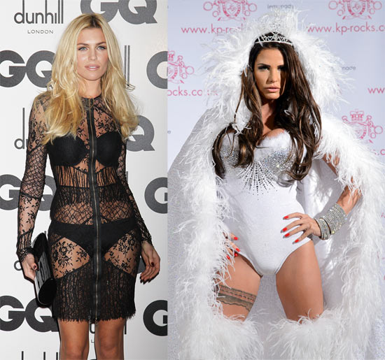 Abbey Crouch and (right) Katie Price