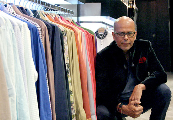 Narendra Kumar at his store in Khar, Mumbai