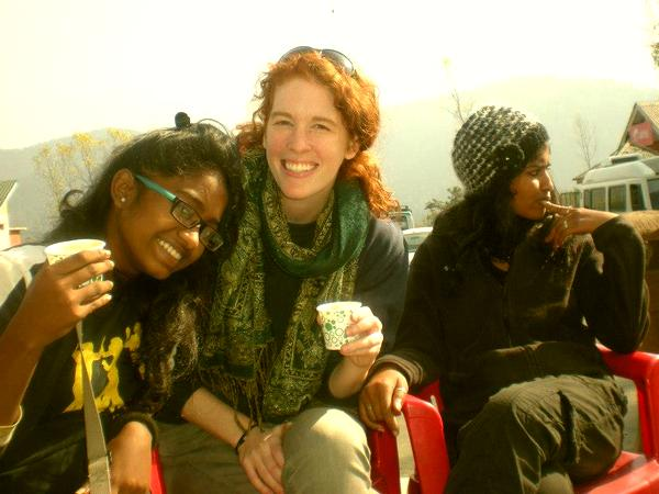 Shweta Katti with Katie Pollum in Srinagar. Katti has been travelling around the country addressing young women and men