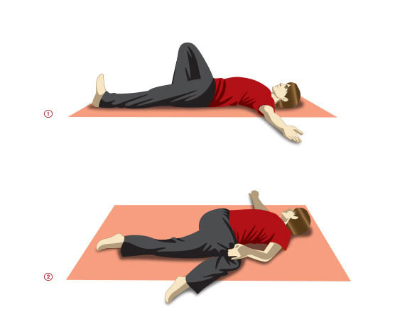 Jathara Parivartanasana or Reclining Twist