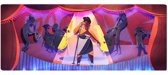 Ella Fitzgerald commemorated with a Google doodle