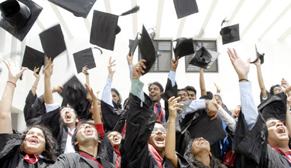 A majority of graduates from Delhi NCR are optimistic about India's economic growth.