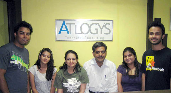 Ritika (third from left) with her team