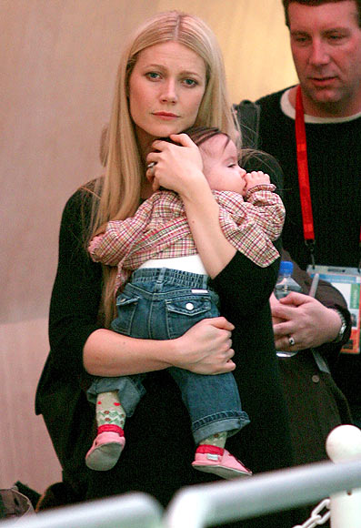 Gweneth Paltrow with her son Moses