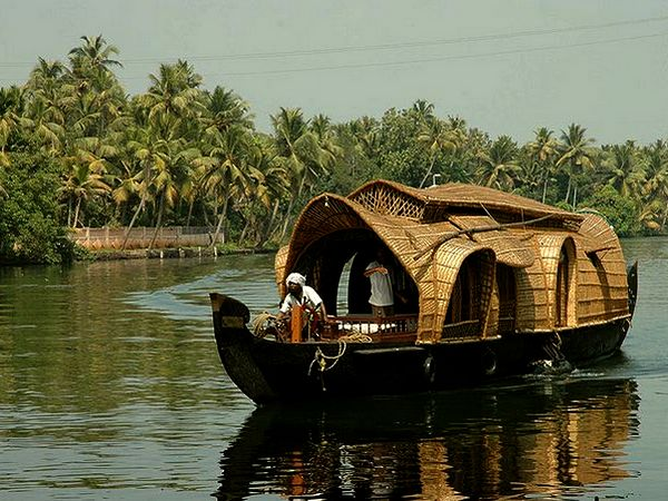 Houseboat along the backwaters of Kerala